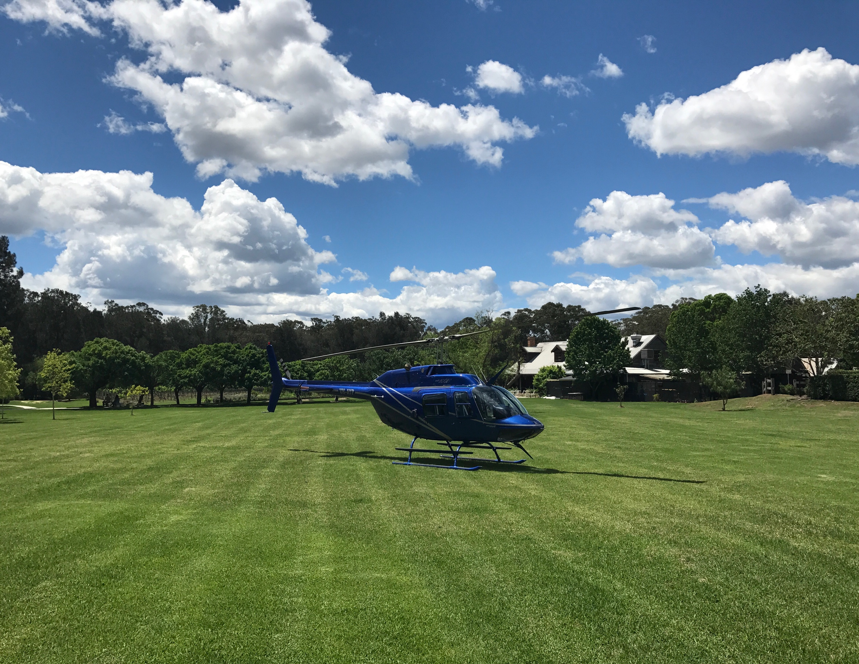 Hunter valley helicopters at peppers convent