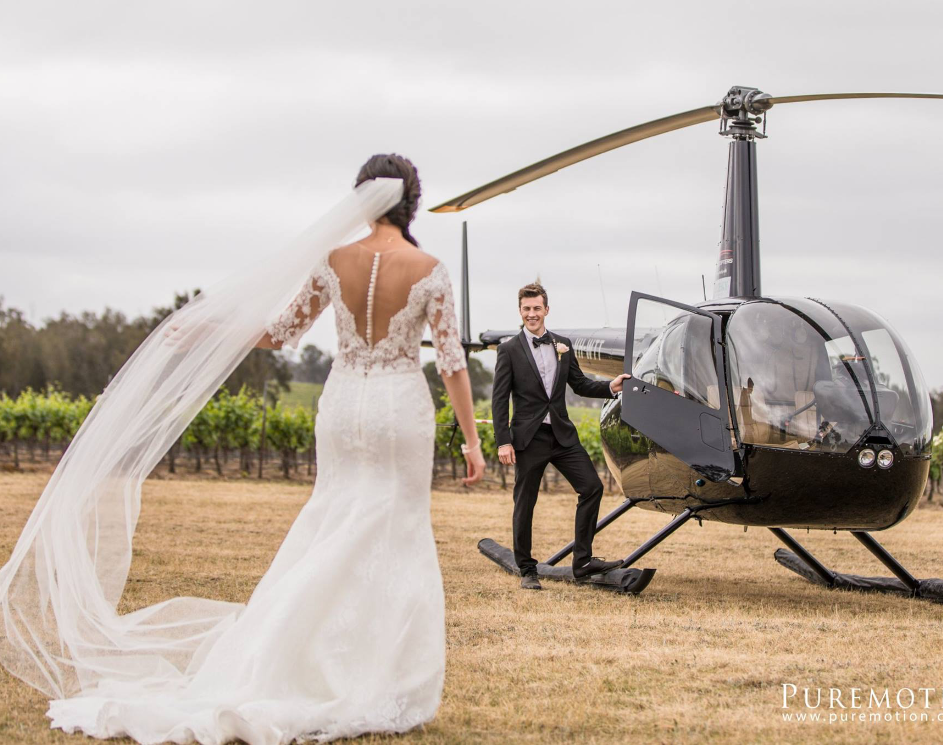 weddings with Hunter Valley Helicopters